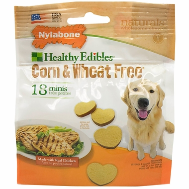Nylabone Corn & Wheat Free - Real Chicken (18 mini chews)