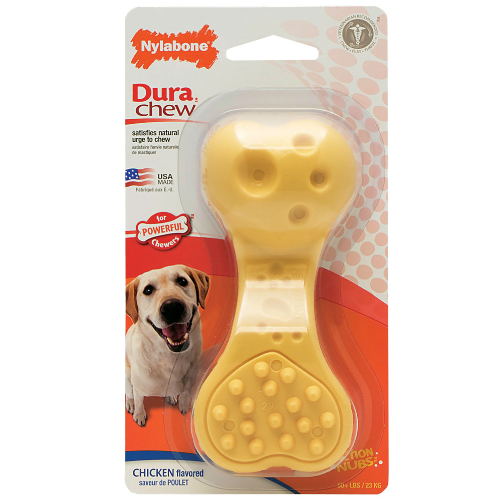 Nylabone DuraChew Plus Wavy Bone Chew Dog Toy