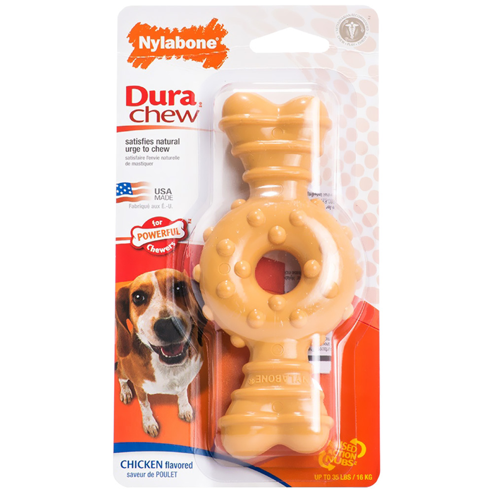 Nylabone DuraChew Textured Ring Bone - Chicken