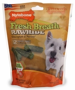 Nylabone Fresh Breath Rawhide Chlorophyll & Parsley