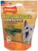 Nylabone Fresh Breath Rawhide Chlorophyll & Parsley - Beef (12 regular sticks)