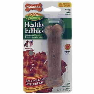 "Nylabone Healthy Edibles Bacon Flavored Bone - REGULAR (4.5""L)"