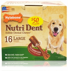 Nylabone Nutri Dent Dental Chews Filet Mignon Pantry Pack (16 Large)