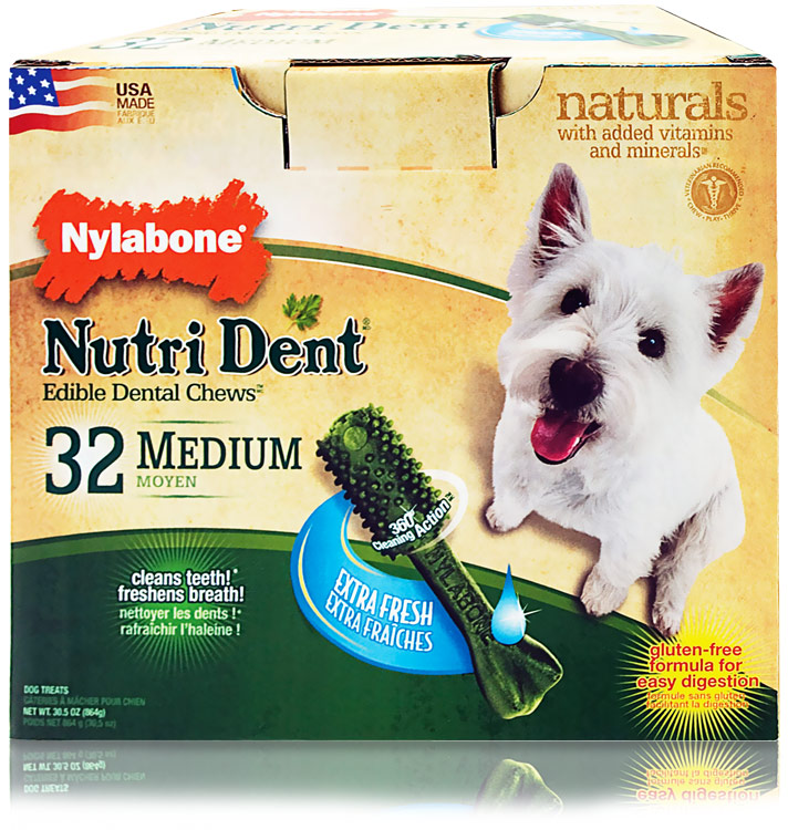 Nylabone Nutri Dent Extra Fresh Dental Chews - Medium (32 count)