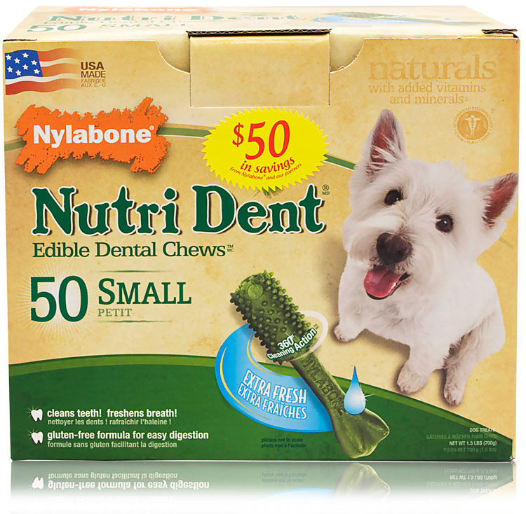 Nylabone Nutri Dent Extra Fresh Dental Chews - Small (50 count)