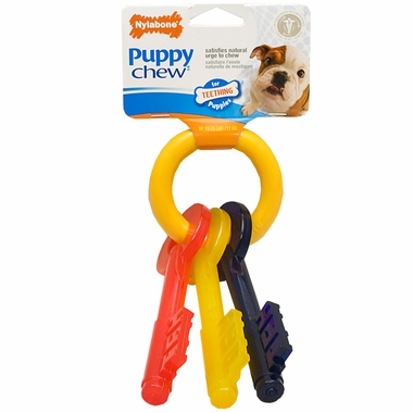 "Nylabone Puppy Teething Keys – SMALL (7"")"