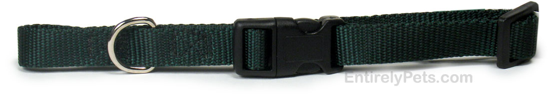Nylon Adjustable Collar - Hunter Green