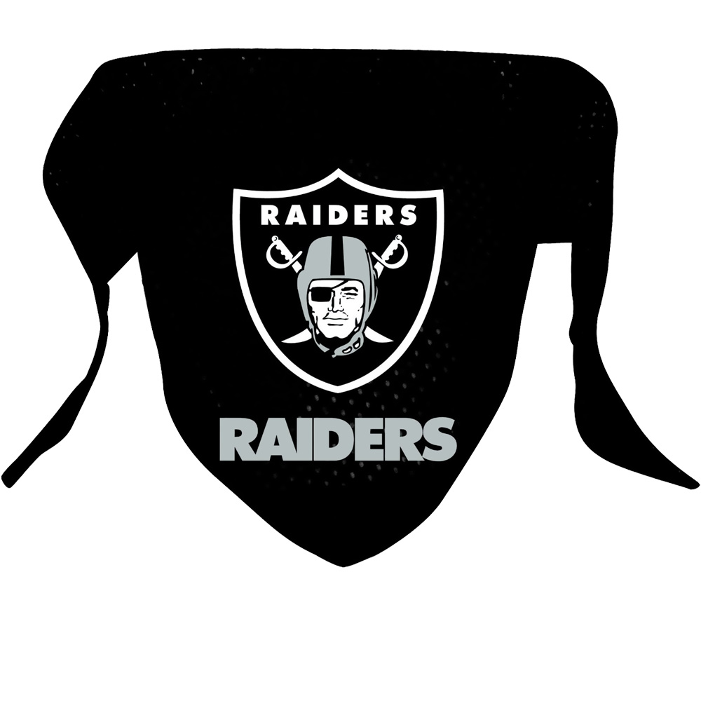 Oakland Raiders Dog Bandanas