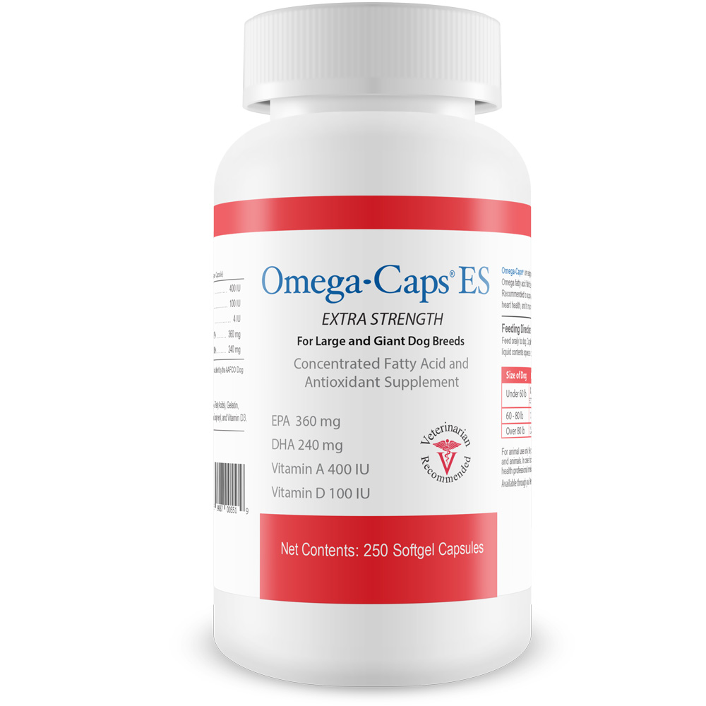 Omega-Caps For Large & Giant Dogs (250 Softgel Capsules)