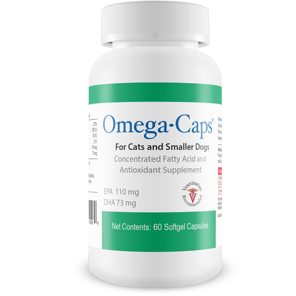 Omega-Caps For Cats & Smaller Dogs (60 Softgel Capsules)