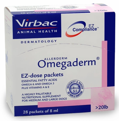Omegaderm EZ Dose Packets Over 20 lbs. (28 packets of 8 ml)