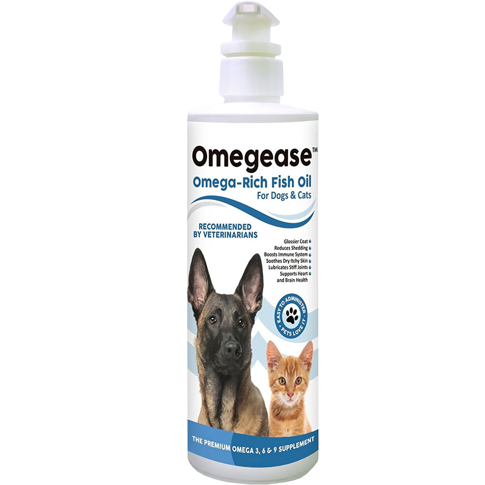 Omegease - Omega Rich Fish Oil for Dogs & Cats (16 fl oz)