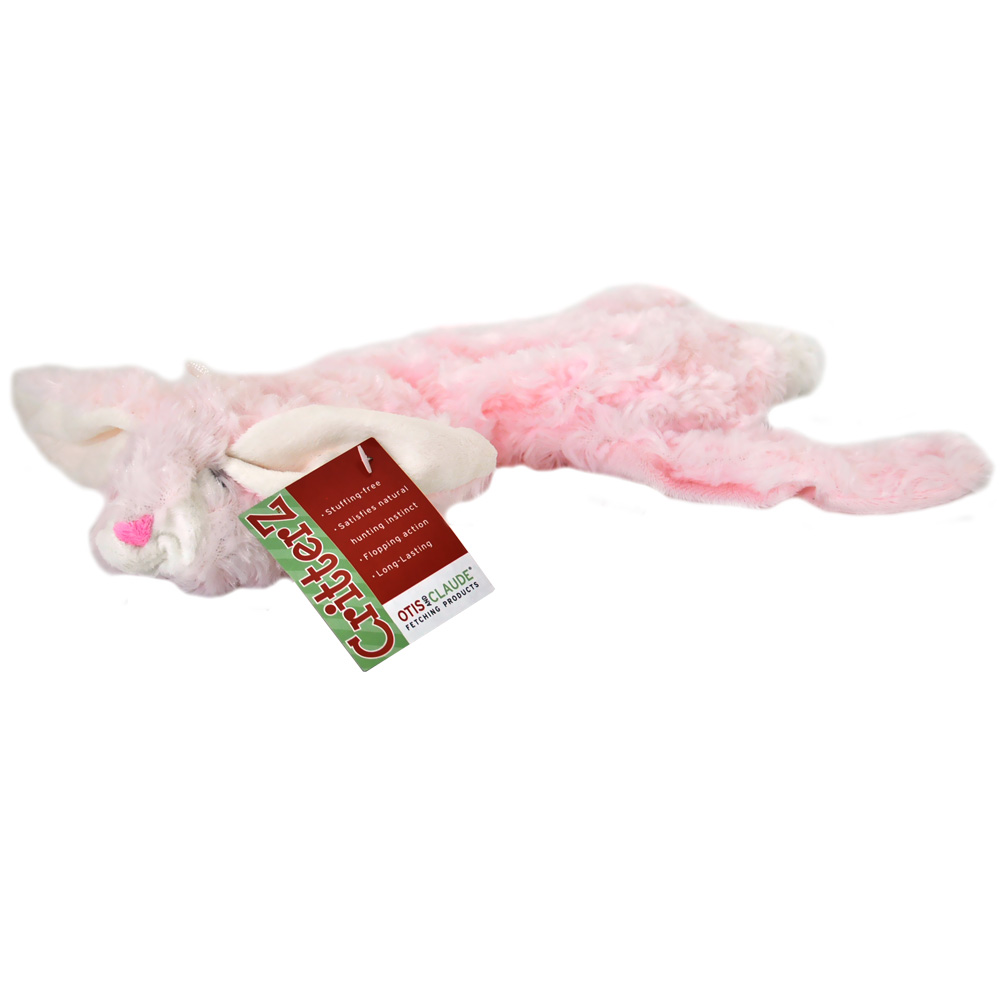 "Otis & Claude CritterZ Stuffing Free Dog Toys - Rabbit (14"")"