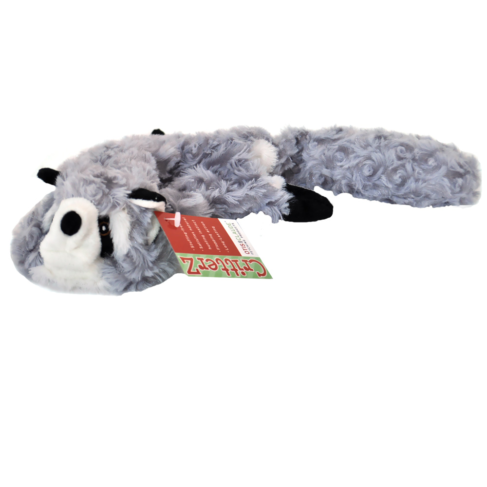 Otis & Claude CritterZ Stuffing Free Dog Toys - Raccoon (23