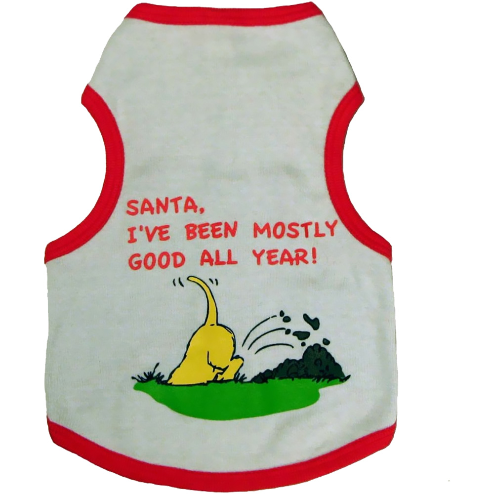 Outward Hound Holiday Santa Most Good Tee - Medium