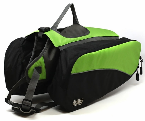 Outward Hound Quick Release Dog Backpack Green - Medium