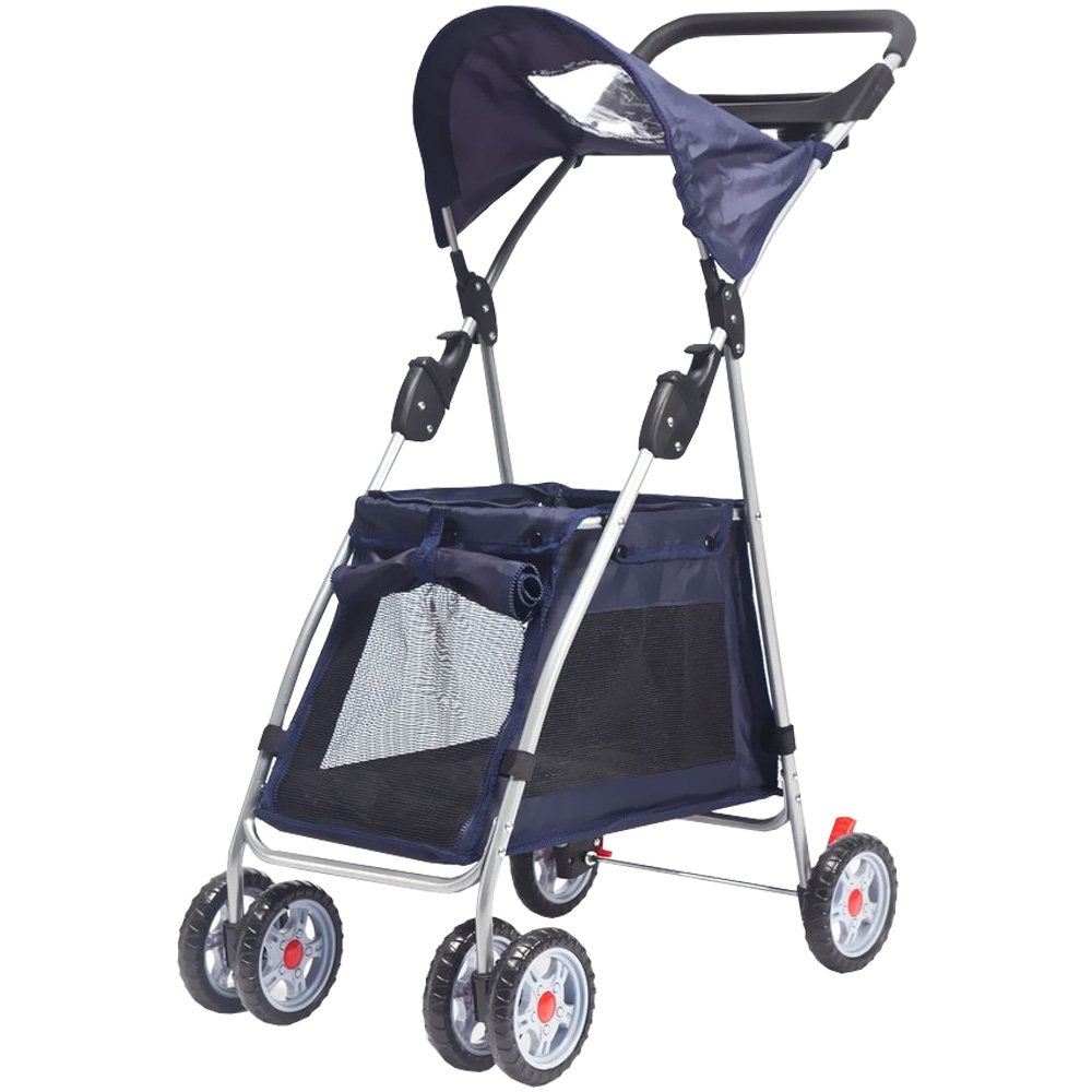 Outward Hound Walk N Roll Pet Stroller - Navy Blue