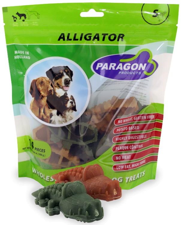 Paragon Alligator Small Dental Dog Treats (14 count)