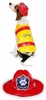 Pawfield Fire Chief Dog Costume - MEDIUM