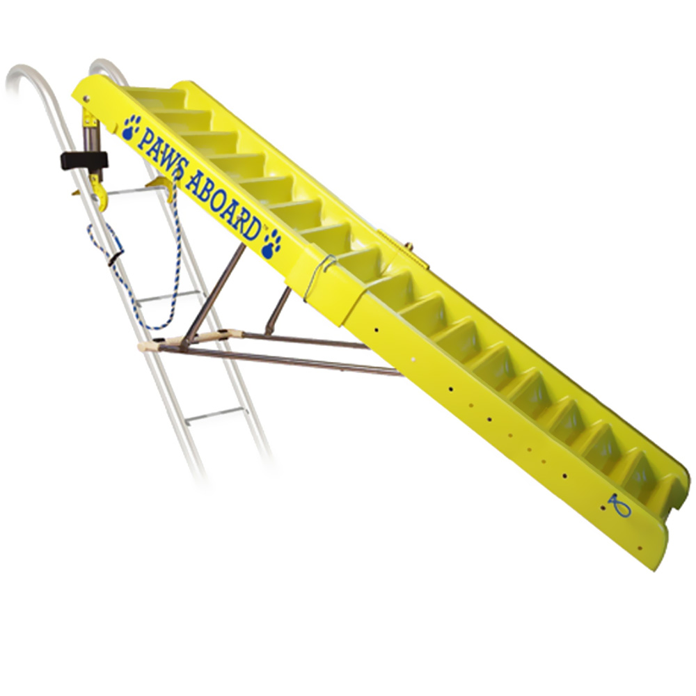 Paws Aboard Doggy Boat Ladder - Yellow/Blue (5 ft)