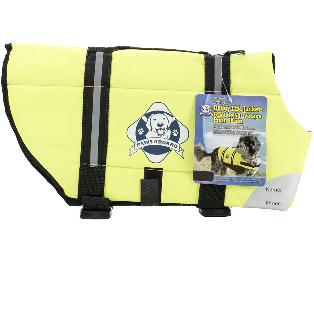 Paws Aboard Pet Life Jacket - Safety Neon Yellow (Xsmall)