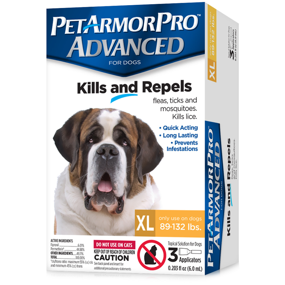 PetArmor Pro Advanced XLarge (89-132 lbs) - 3 Pack