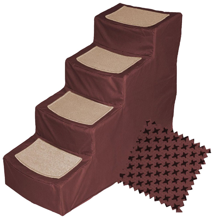 Pet Gear Designed Stair IV with Removeable Cover - Burgundy