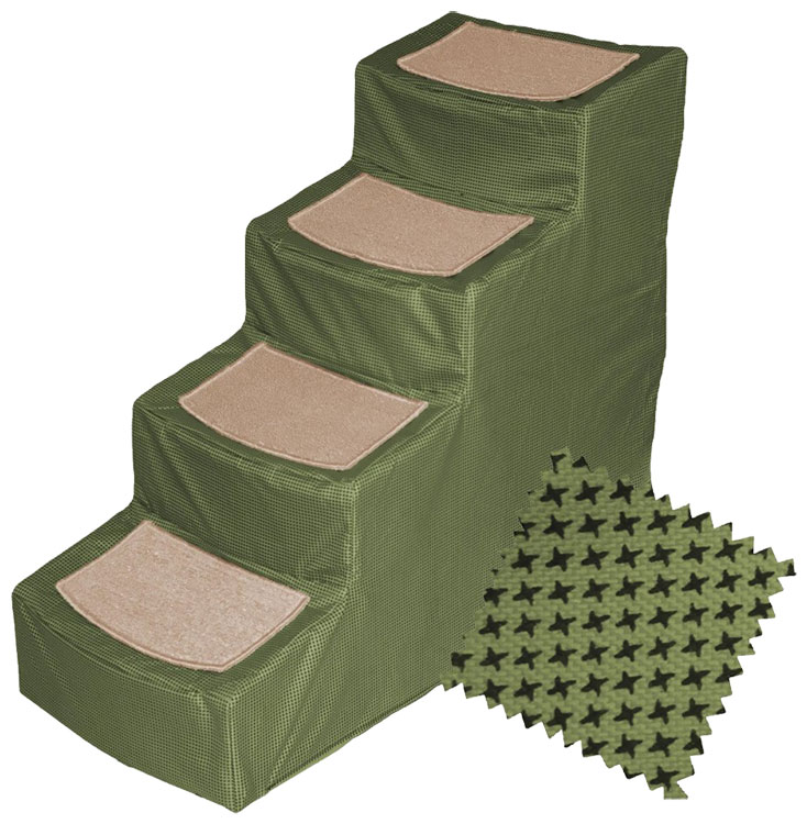 Pet Gear Designed Stair IV with Removeable Cover - Sage