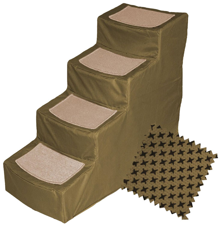 Pet Gear Designed Stair IV with Removeable Cover - Tan
