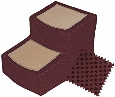 Pet Gear Designer Stair ll with Removeable Cover - Burgundy