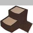 Pet Gear Designer Stair ll with Removeable Cover - Chocolate