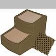 Pet Gear Designer Stair ll with Removeable Cover - Tan