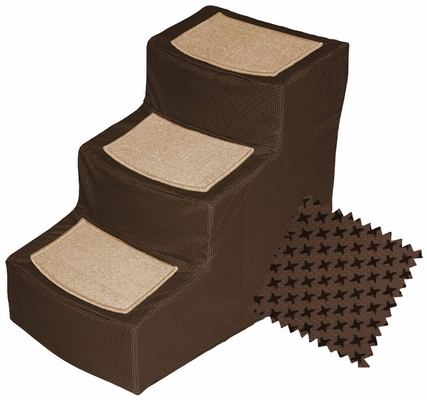 Pet Gear Designer Stair lll with Removeable Cover - Chocolate