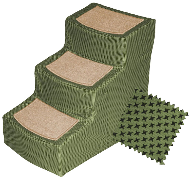 Pet Gear Designer Stair lll with Removeable Cover - Sage