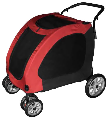 Pet Gear Expedition Pet Stroller - Burgundy