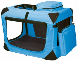 "Pet Gear Generation II Deluxe Portable Soft Crate 21"" - Ocean Blue"