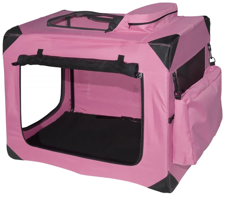 """Pet Gear Generation II Deluxe Portable Soft Crate 27.5"""" - Pink"""