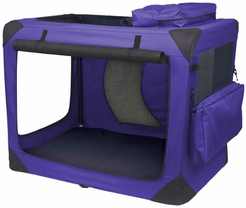 "Pet Gear Generation II Deluxe Portable Soft Crate 30"" - Lavender"