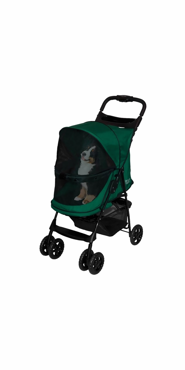 Pet Gear Happy Trails No-Zip Stroller - Emerald