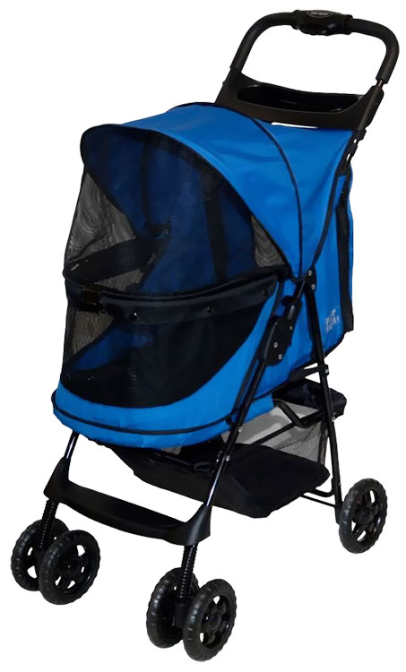 Pet Gear Happy Trails No-Zip Stroller - Sapphire