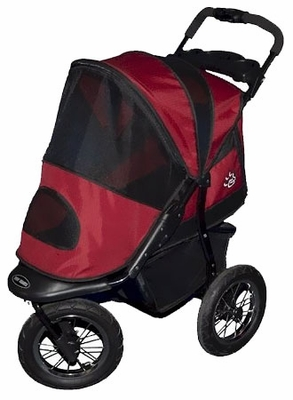 Pet Gear Jogger Pet Stroller - Burgundy