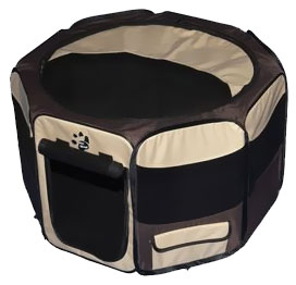 "Pet Gear Octagon Pet Pen With Removable Top 36"" - Sahara"