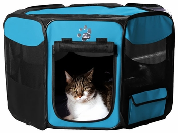 "Pet Gear Octagon Pet Pen With Removable Top 42"" - Ocean Blue"