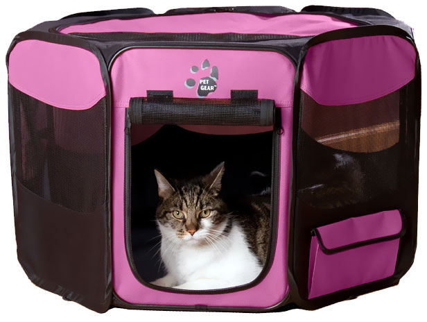 """Pet Gear Octagon Pet Pen With Removable Top 42"""" - Pink"""