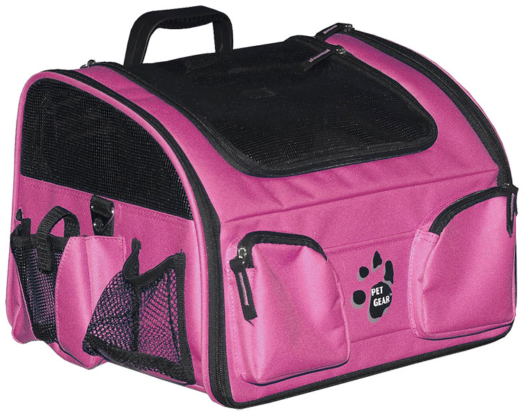 "Pet Gear Pet Bike Basket 3-in-1 14"" - Pink"