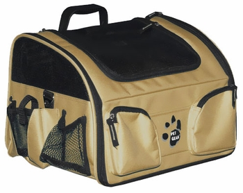 "Pet Gear Pet Bike Basket 3-in-1 14"" - Tan"