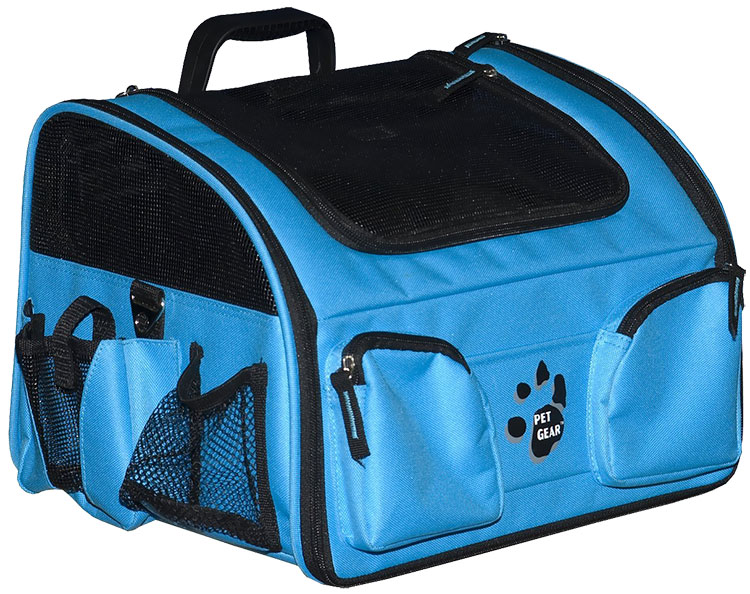 "Pet Gear Pet Bike Basket 3-in-1 16"" - Ocean Blue"