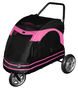 Pet Gear Roadster Pet Stroller - Black/Pink