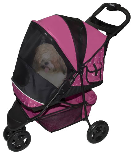 Pet Gear Sportster Pet Stroller - Raspberry