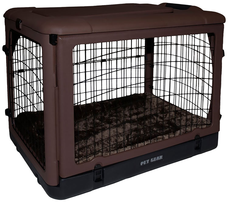 """Pet Gear The Other Door Steel Crate with Pad 42"""" - Chocolate"""